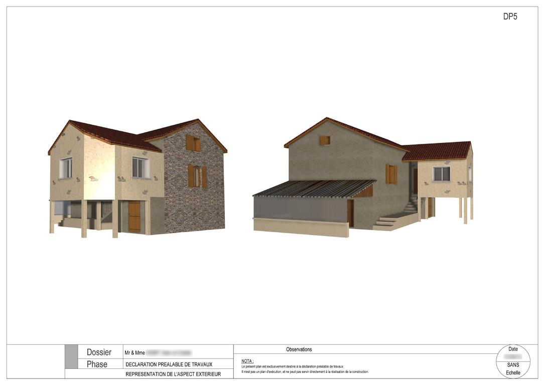 plans bat permis de construire avant projets. Black Bedroom Furniture Sets. Home Design Ideas
